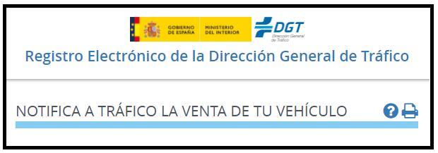Notificar Venta Vehículo sin ir a la DGT 2021